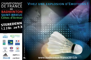 Affiche championnat de france de badminton